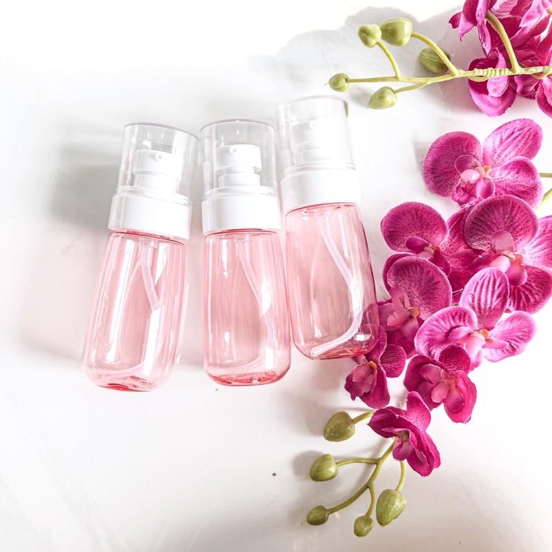 botol plastik 30ml pump lotion biru pink clear botol sabun shampoo conditioner kemasan isi ulang-3