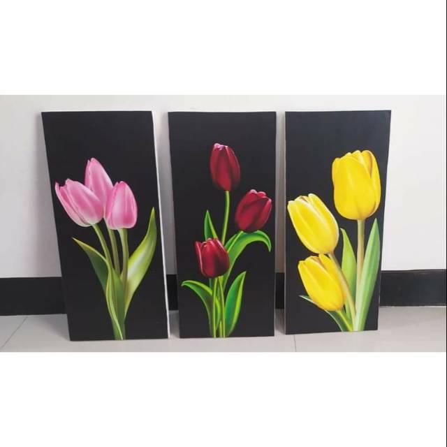 2 Set Tulip Background Hitam Dan Putih Shopee Indonesia