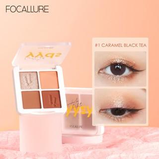 Focallure Secret Code Palet Eyeshadow 4 Warna Pigment Tinggi Anti Air Tahan Lama Untuk Travel thumbnail