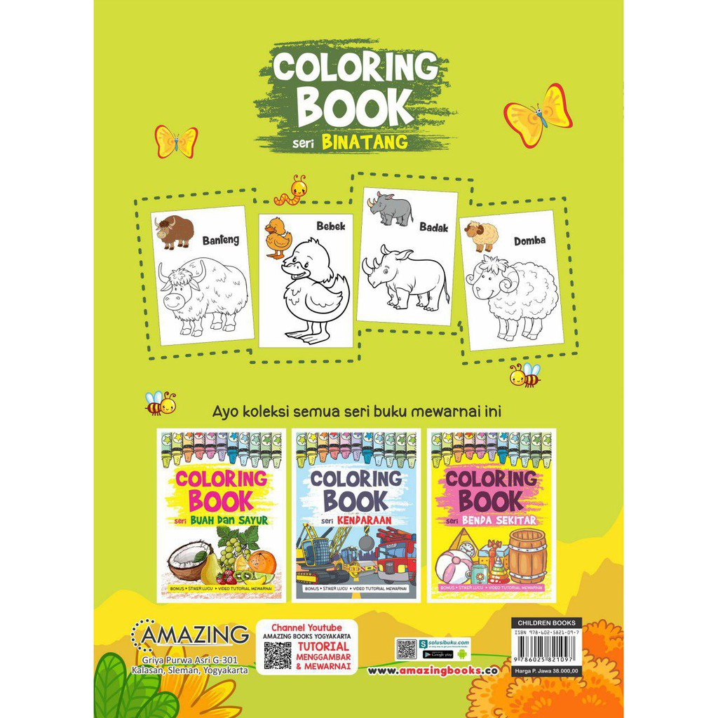 Seri Binatang Coloring Book