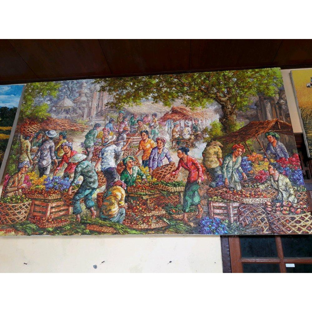 Lukisan Pasar Kwalitas Super Bagus Koleksi