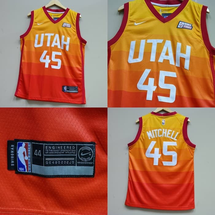 c0d28506ad68 Jersey Utah Jazz Full Printing Navy   Yellow