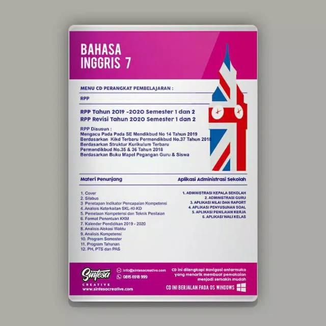 Cd Rpp 1 Lembar Bahasa Inggris Smp Mts Kelas 7 8 Dan 9 K 13 Revisi Terbaru Untuk 2 Semester Shopee Indonesia