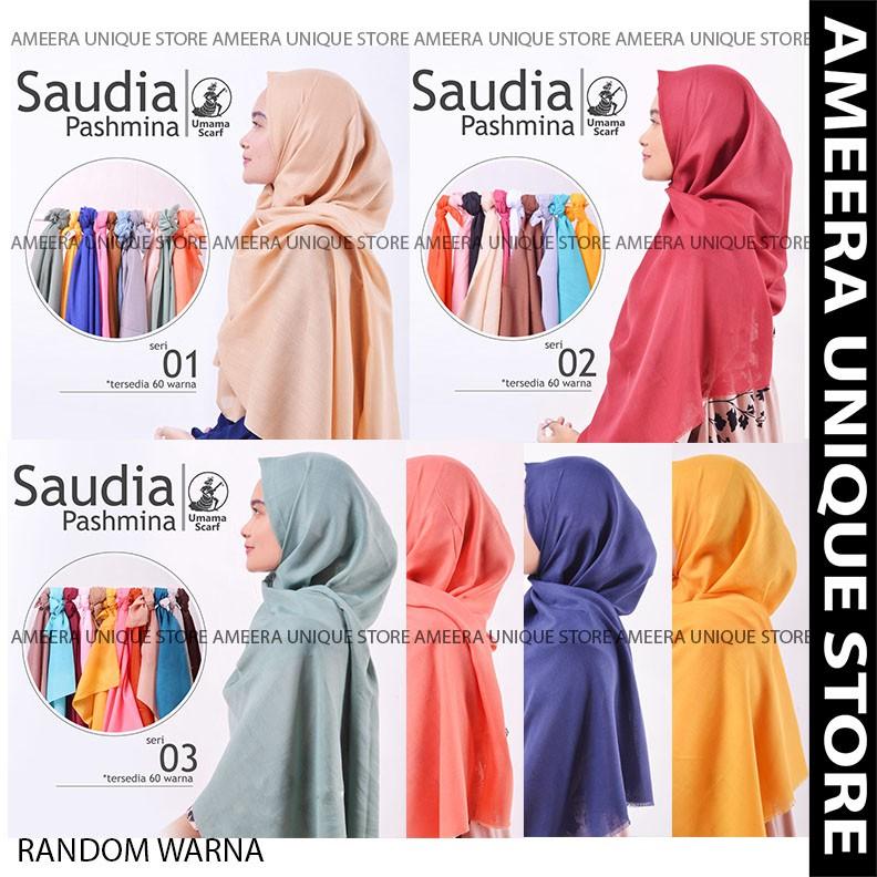 Grosir 10 Pcs Hijab Pashmina One Star Motif 01 Bahan Silko Two Tone - By Umama | Shopee Indonesia