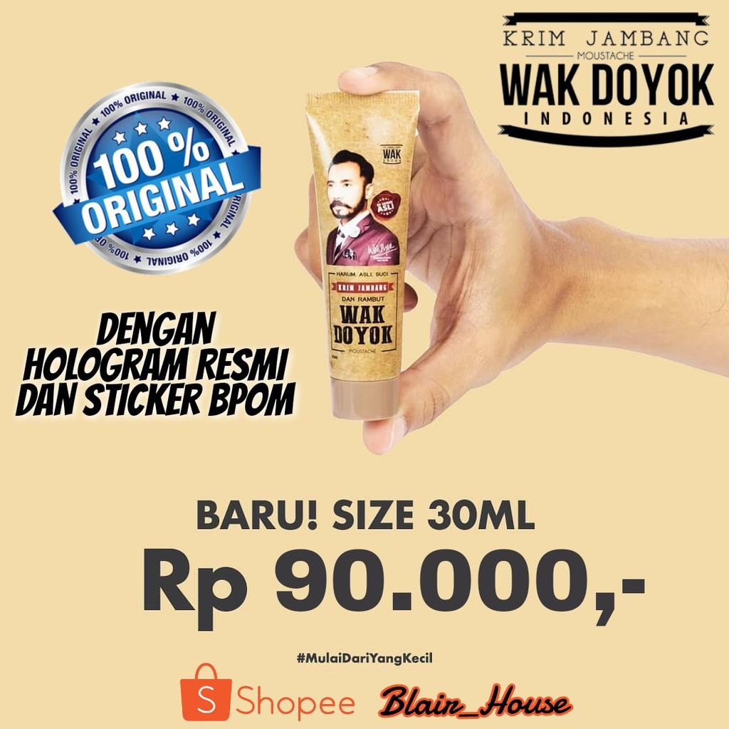 Krim Wak Doyok Original Wakdoyok Cream Asli Hologram Indonesia Jambang Kemasan 30ml Kecil Dijamin Ori Penumbuh Rambut Alis Kumis Shopee