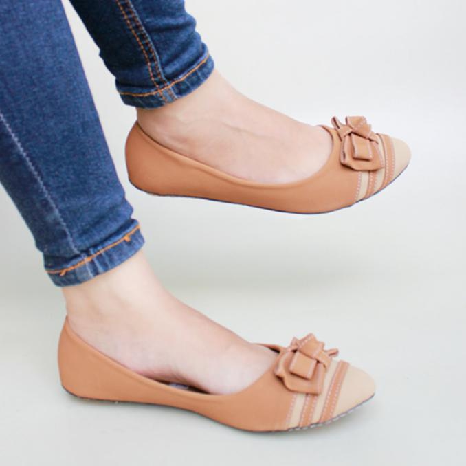 Paling Murah Sepatu Flat Shoes Flatshoes Gratica Aw26 Moka