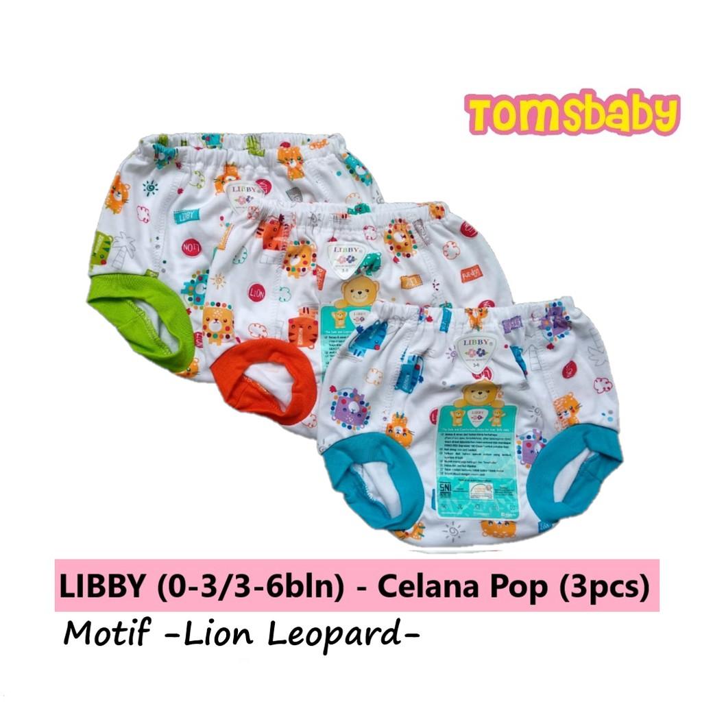 Celana Pop Polos Libby Newborn 3 6m 6 12m All Size Pcs Pendek Motif Shopee Indonesia