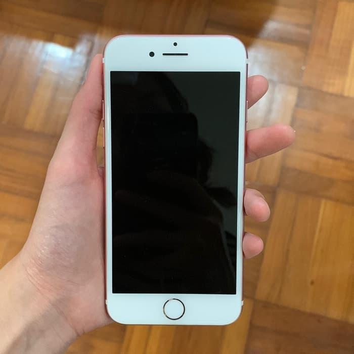 hanphone second murah berkualitas Iphone 7 Rose Gold - 128GB (Jual cepat banting harga) Limited