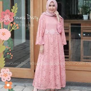 Terlaris Maxi Long Dress Brukat Kebaya Wisuda Kiara Princess Terbaru