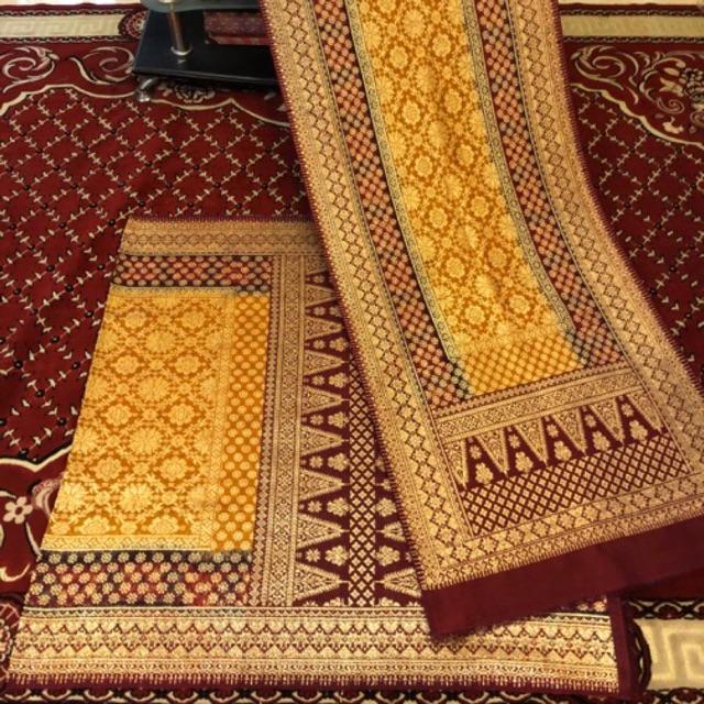 Songket tenun Lepus LIMAR 3 NEGERI ORI  / Songket Palembang asli Tenun Tangan. (ilham Songket).