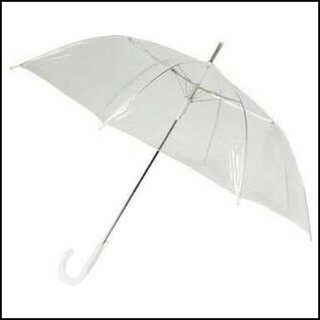 Harga Penawaran Payung Transparan Bening umbrella transparant Korea Japan Best Quality shock price - only Rp33.000