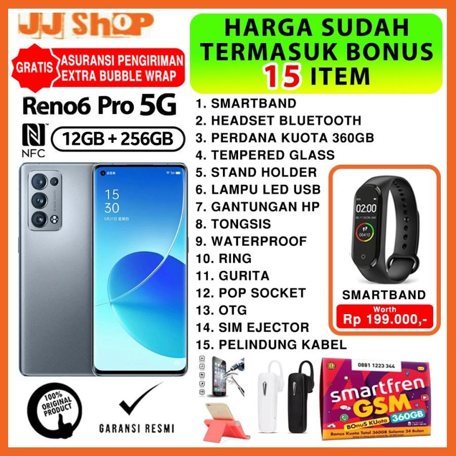 OPPO RENO6 PRO 5G 12/256 GB - RENO6 5G 8/128 - RENO 6 8/128 [NFC] RAM 12GB 8GB ROM 256GB 128GB GARANSI RESMI