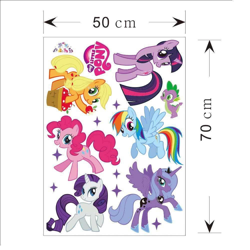 Sticker Dinding Gambar Karakter Kartun My Little Pony Bahan Pvc Untuk Dekorasi Kamar Anak Shopee Indonesia
