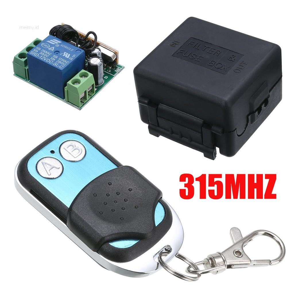 ✨meimy✨12V 2CH 315MHZ Wireless Remote Control Radio Relay Switch  Transceiver Receiver