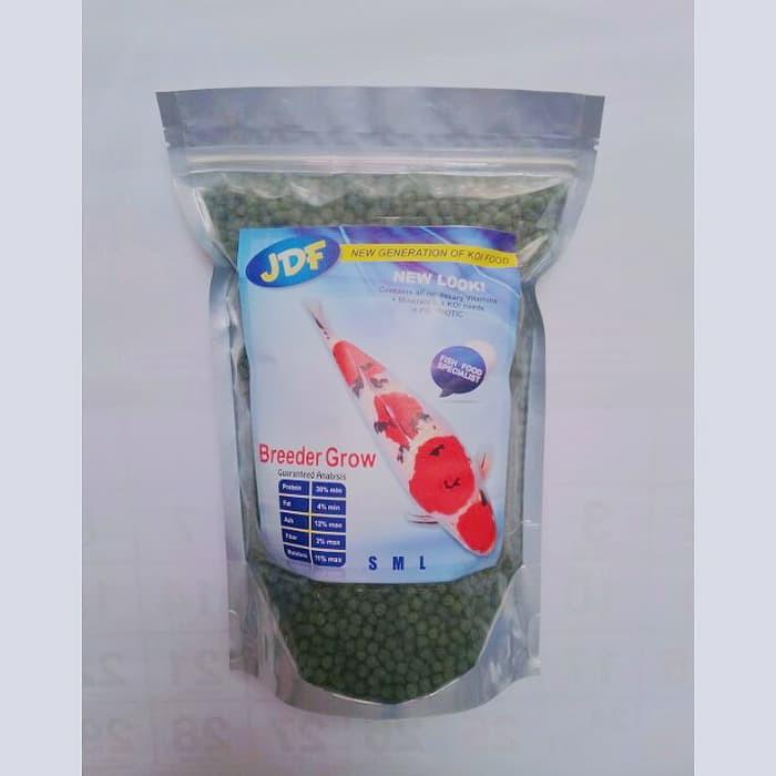 Pelet Makanan Ikan Koi JDF Breeder Grow New Look 1kg ( size M,L )