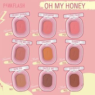 COD Pinkflash Ohmyhoney blush powder kosmetik matte natural repair blush on CANTIKLIB 4
