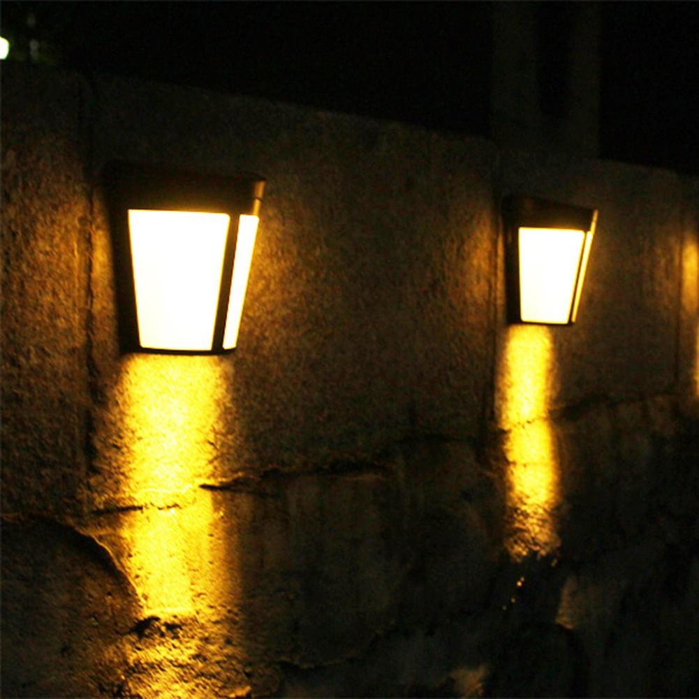 Lampu Taman 6 Led Cahaya Kuning Sensor Tenaga Surya Untuk Dinding Dan Pagar Shopee Indonesia
