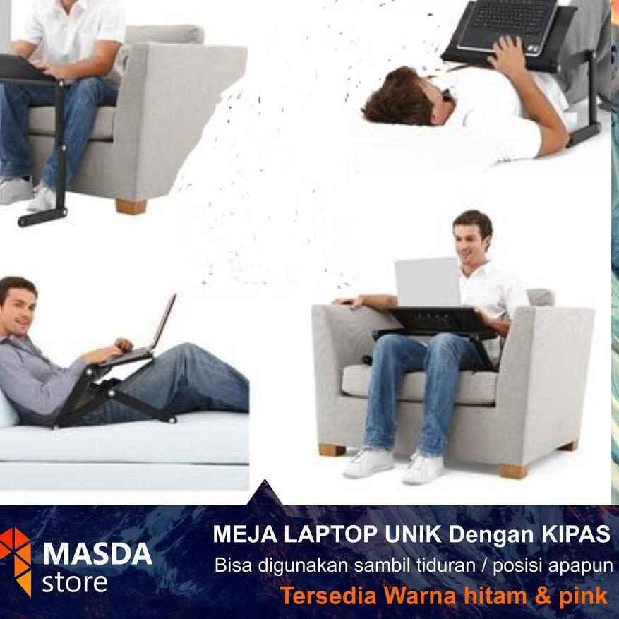 Promo Meja Laptop Portable Dg Kipas Aluminium Lipat Multifungsi Minimalis Lesehan Duduk Di Kasur Shopee Indonesia