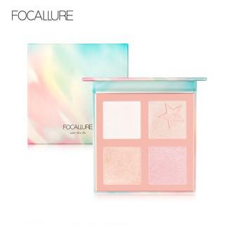 FOCALLURE Highlighter palet wajah Shimmer makeup profesional FA63 thumbnail