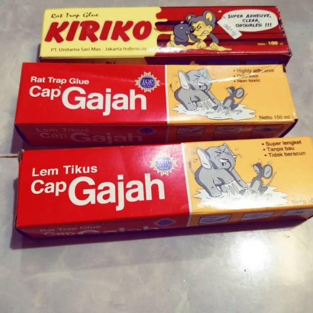Lem Tikus Cap Gajah Dan Cap Kiriko Shopee Indonesia