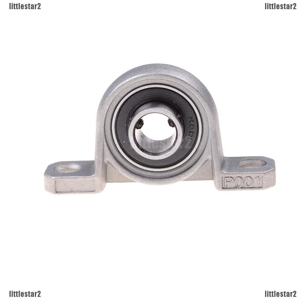 2Pcs 12mm Bore Diameter KFL001 Pillow Block Bearing Flange Rhombic Bearings SP