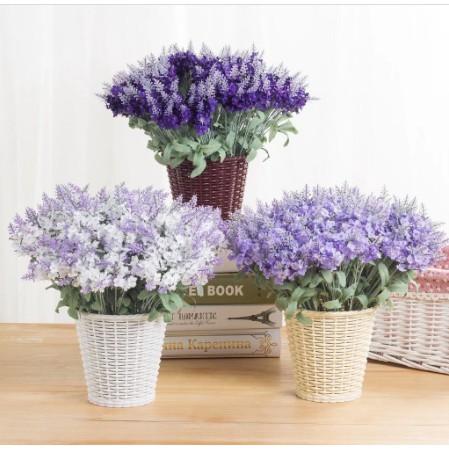 af11 bunga daun lavender artificial tanaman hias dekorasi
