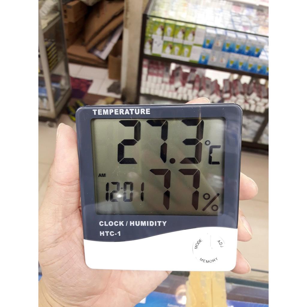 Faid Digital Lcd Thermometer Hygrometer Temperatur Kelembaban Meter Thermohygrometer Htc 1 Ruangan Gauge Clock Shopee Indonesia