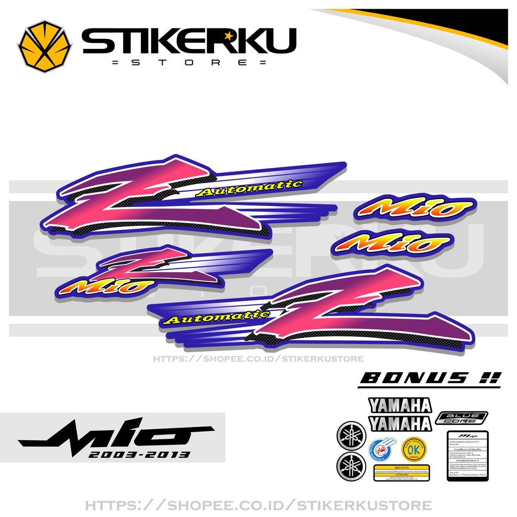 STRIPING MIO AMORE / THAILAND / STIKER AMORE / STICKER MIO AMORE / SMILE / LAMA / MIO Z