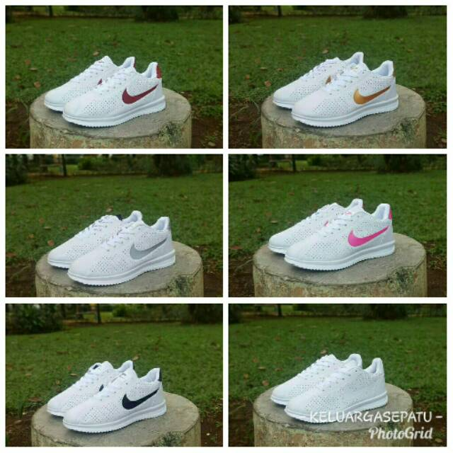Sepatu Nike Airmax Zoom GRADE ORI Full White Putih Sport Casual Pria Wanita   baaf99f38b