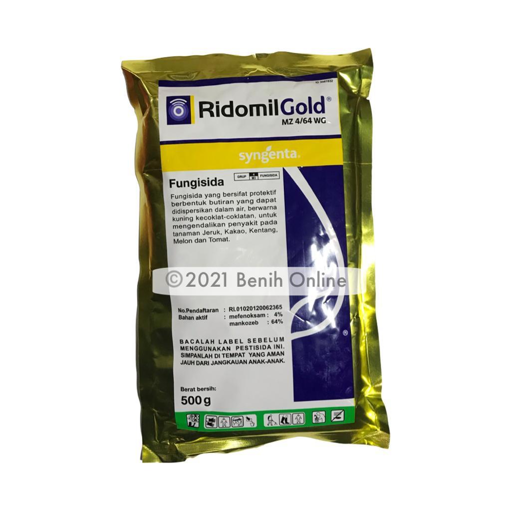 FUNGISIDA SISTEMIK - RIDOMIL GOLD - 250/500 GRAM - SYNGENTA fungisida kontak sistemik antraknosa