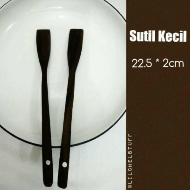 Spatula/ Sutil/ Sotil/ Sodet Kue Apem/ Cubit Dari Kayu | Shopee Indonesia