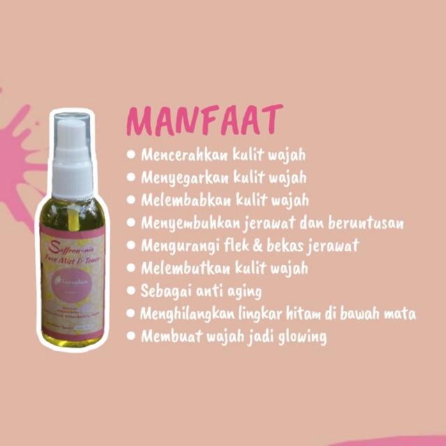 Facemist Saffron Nia 60ml Shopee Indonesia