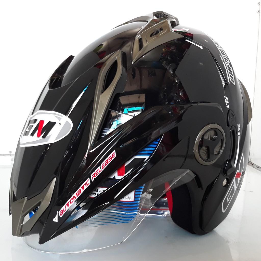 Hasil gambar untuk Helm GM New Impreza Solid 2 Visor