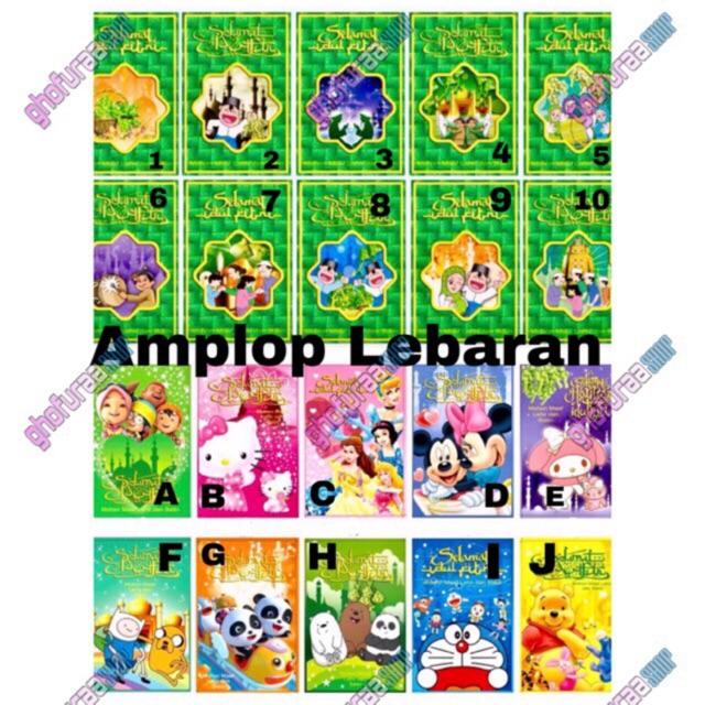 Amplop Lebaran 1 Pack Angpao Karakter Selamat Hari Raya Idul