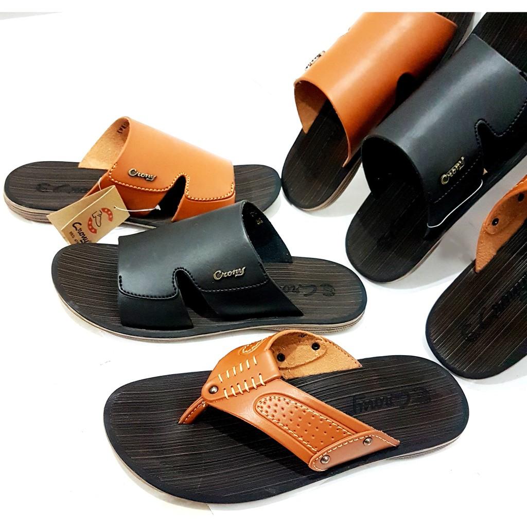 Sandal Kesehatan Kayu Shopee Indonesia Carvil Sepatu Casual Dress Men Gusten Black Hitam 43