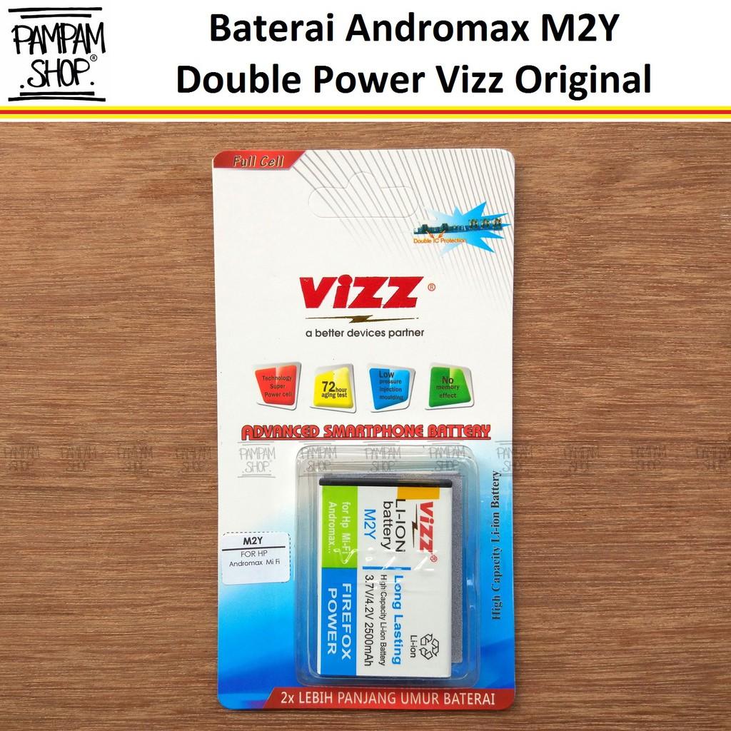 Baterai Vizz Original Double Power Modem Smartfren MIFI Andromax M2Y H15348 H11348 Batrai Batre Dual | Shopee Indonesia