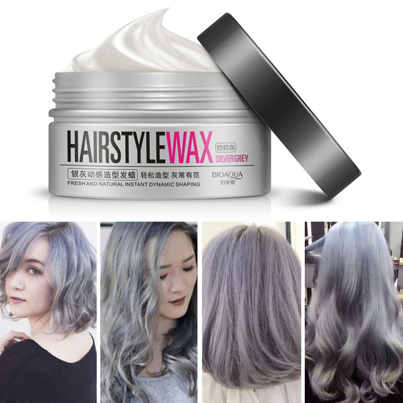 Fresh Smell Silver Grey Shine Hair Wax Cream Water Gel Modelling Hairstyle Shopee Indonesia