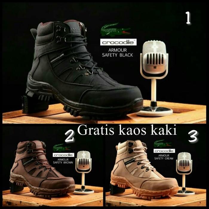 Sepatu Boots Pria Crocodile Morisey Safety   Ujung Besi TERMURAH ... c95999ccbf
