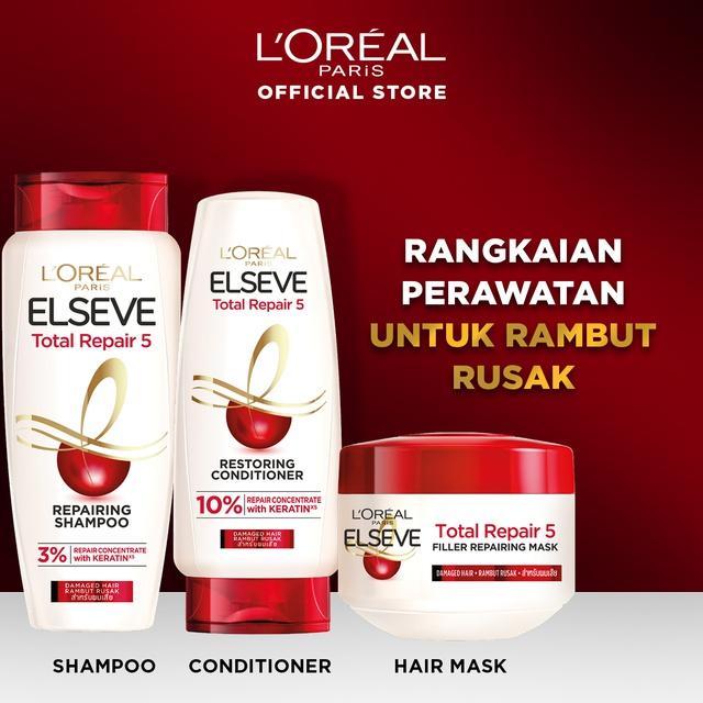 L'Oreal Paris Total Repair 5 Shampoo Hair Care 620ml  x2 Pcs [Perawatan Rambut Rusak]-2