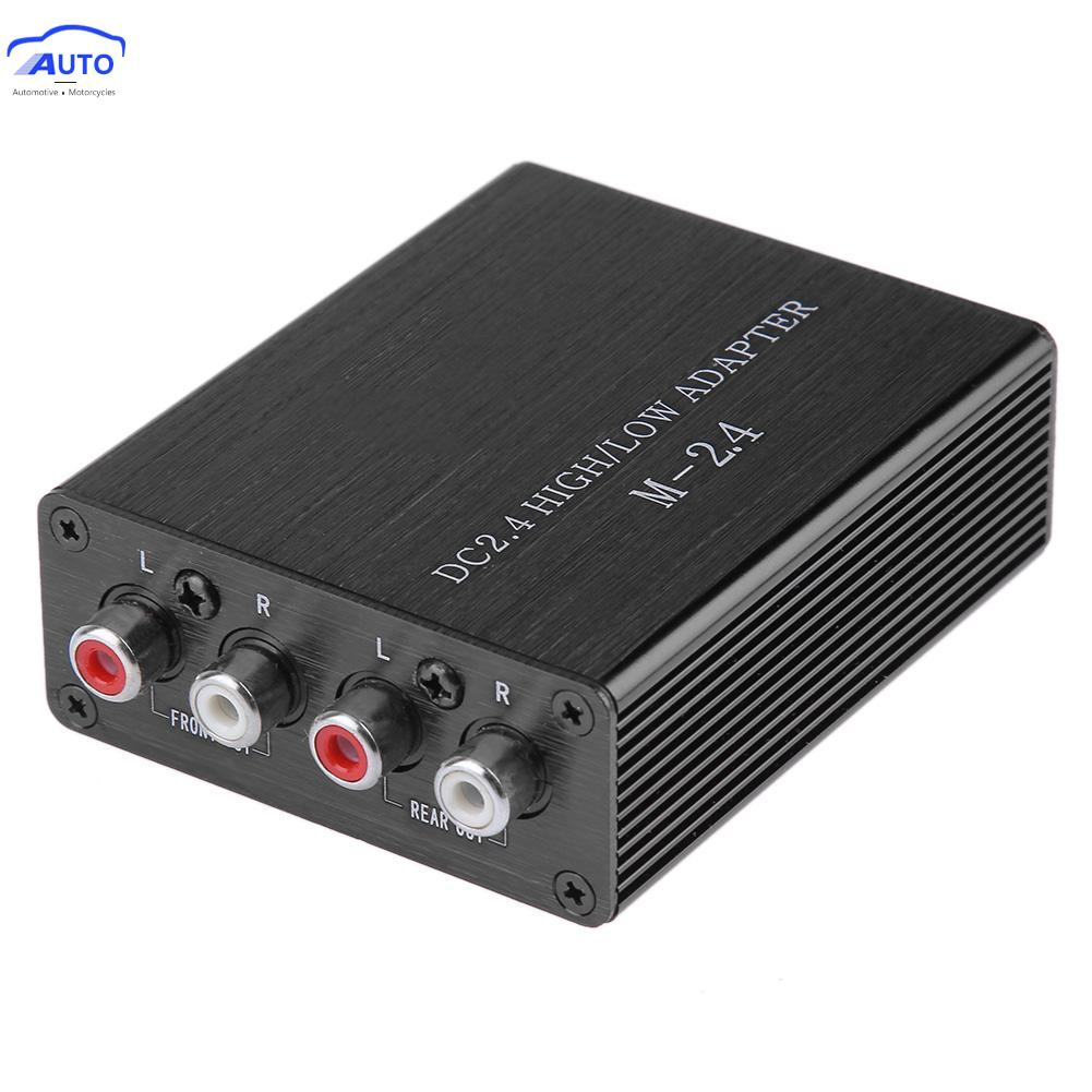 NEW Car Audio 2 RCA Channel Speaker High To Low Line Output Converter w// Harness