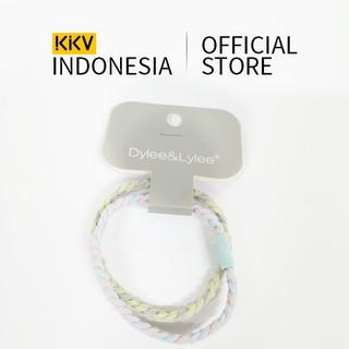 KKV - Dylee&Lylee The green and blue clash twine tied in a headband Ikat Rambut Aksesoris Rambut thumbnail