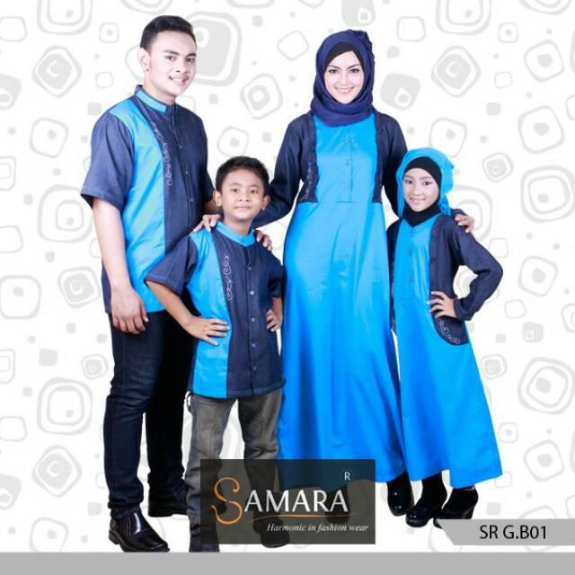 Baju Muslim Keluarga Sarimbit Keluarga Couple Keluarga