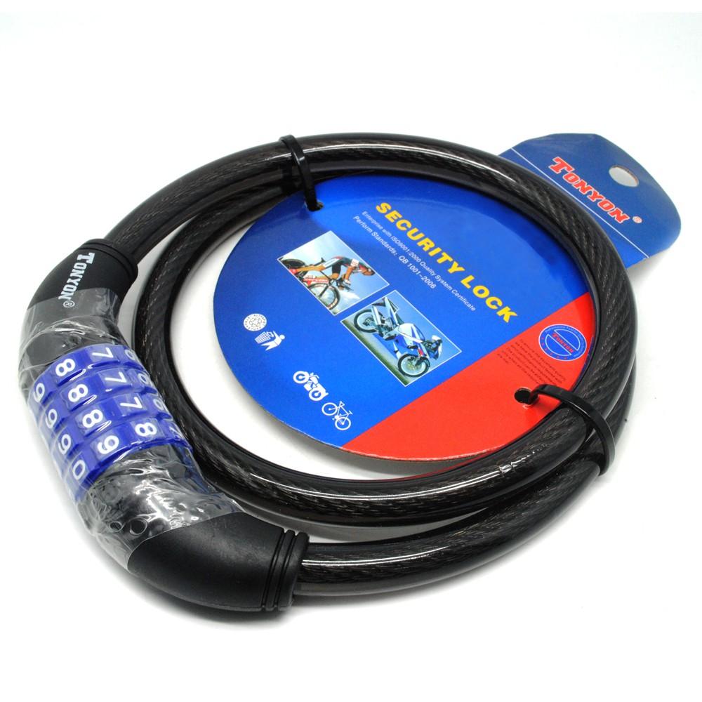 Gembok Sepeda Cable Lock Multiguna Daftar Harga Terbaru Nankai Kunci Sling Spiral Bicycle Kabel Dengan Kode Angka Silver Shopee Indonesia