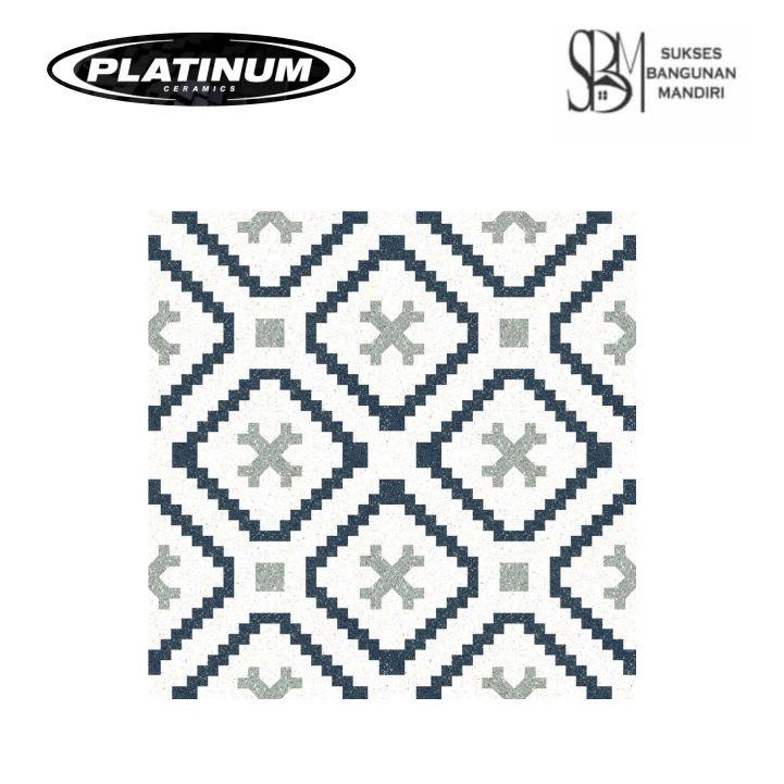 Platinum Ceramic - BRIGHTON BLACK DECOR - 40x40cm - Matt