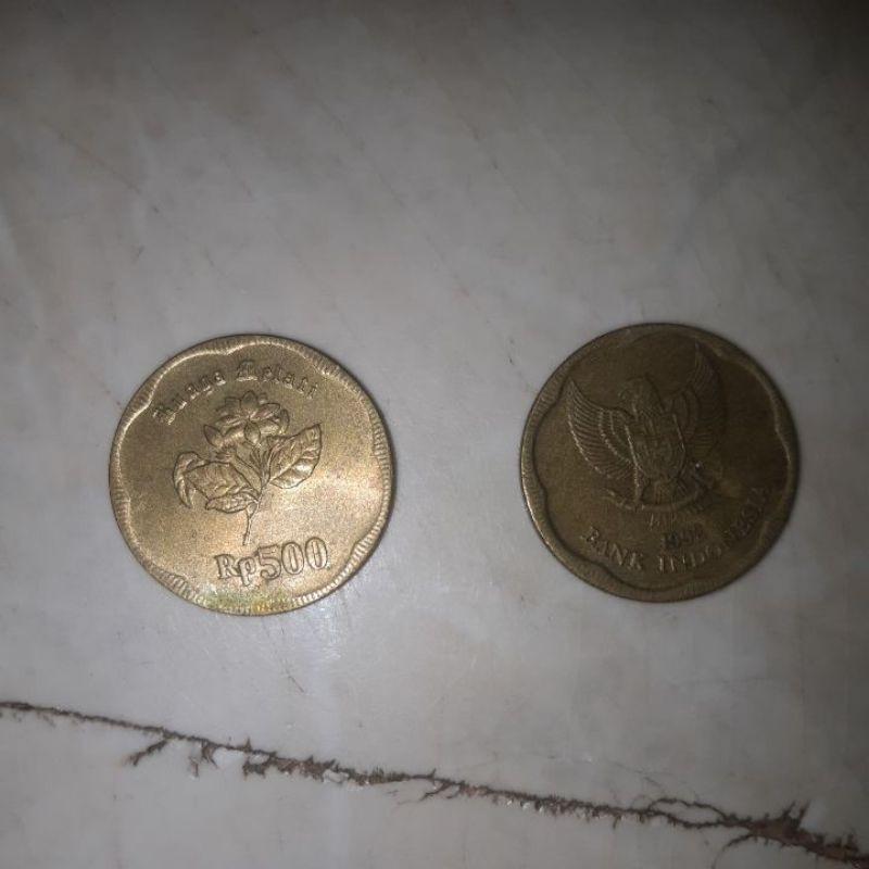uang koin 500 rupiah melati