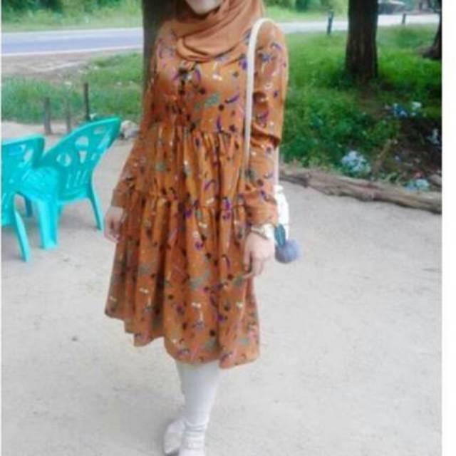[Ready] Dress flowers korean style import bangkok | Shopee Indonesia