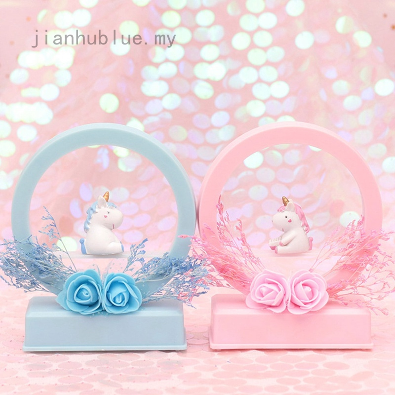 Lampu Malam Led Cantik Lucu Bentuk Unicorn Untuk Dekorasi Kamar Tidur Anak Perempuan Shopee Indonesia