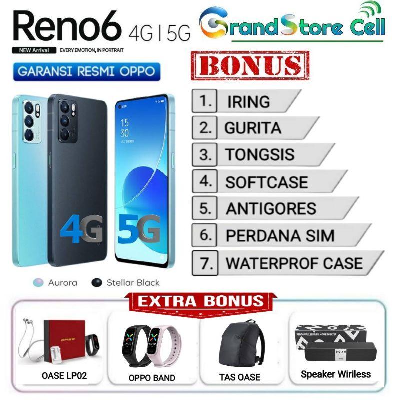 OPPO RENO 6 RENO6 RAM 8/128 GB | RENO6 5G RAM 8/128 GB GARANSI RESMI OPPO INDONESIA