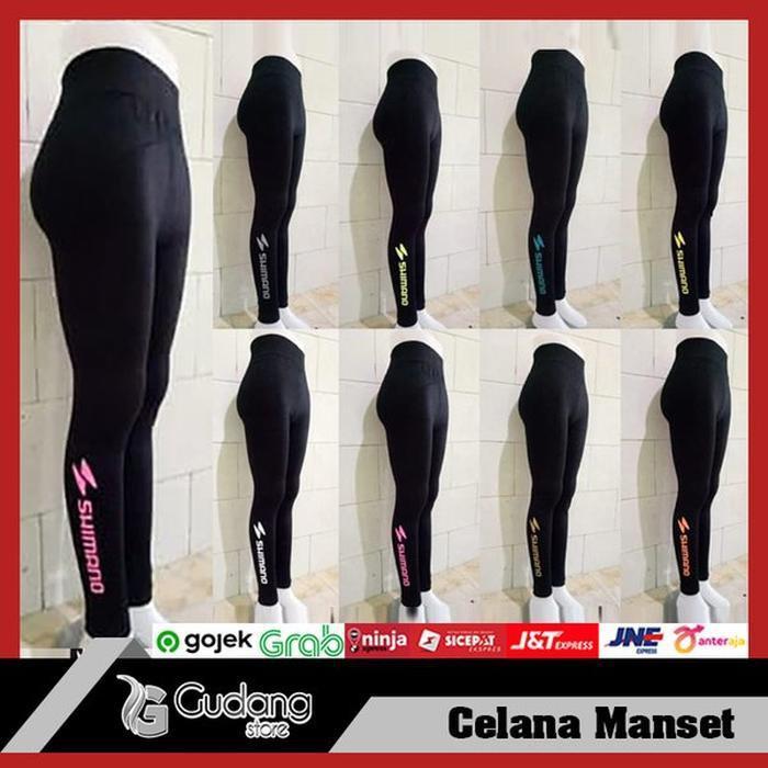 Celana Manset Panjang Sepeda Gowes Legging Manset Panjang Shimano Shopee Indonesia