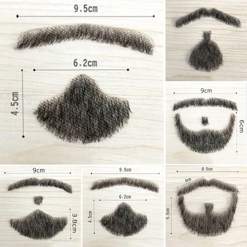 Fake Beard Man Mustache Word Simulation of 100/% Human Hair Makeup Disguise Props